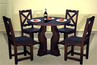 Heredianos com eco muebles en mercedes norte de heredia for Juego de comedor redondo 4 sillas